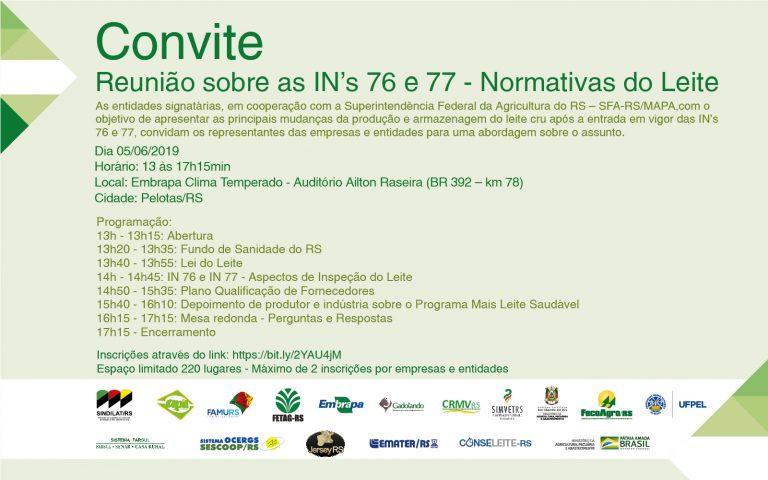 Pelotas reúne entidades para debate sobre a adequação às INs 76 e 77