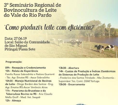 Vale do Rio Pardo realiza encontro para debater eficiência na produção leiteira