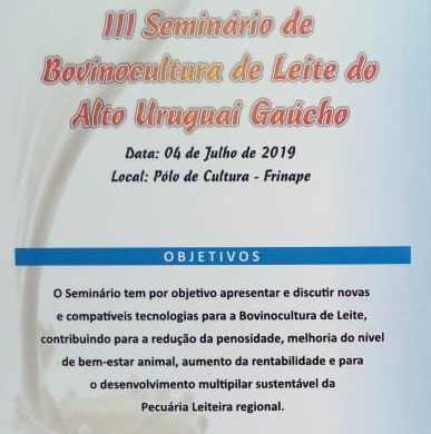 Sindilat participa do III Seminário de Bovinocultura de Leite do Alto Uruguai