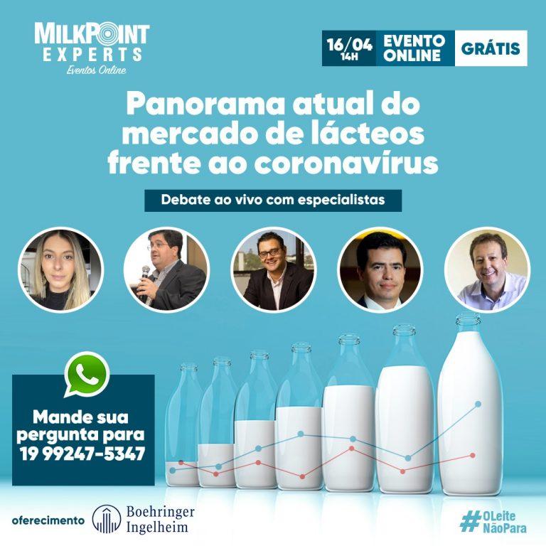 Milkpoint Experts realiza palestras e debates online sobre o mercado de lácteos frente ao coronavírus